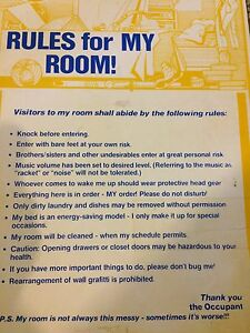 Rules for my room