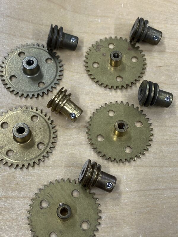 """ERECTOR WORM GEAR SET 36:1 RATIO 24 PITCH 5/32"""" BORE WITH STAINLESS SET SCREWS !"""
