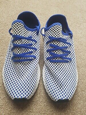 Men adidas deerupt trainers - Blue & White - Size 11 - Used Very Good No Box
