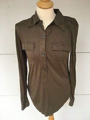 Vintage Ll Bean Women S Brown Long Sleeved Shirt Sz S