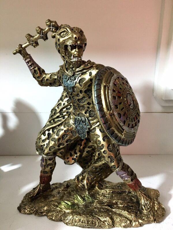 Jaguar Warrior With Weapon & Mayan Calendar On Shield