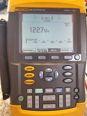 Fluke 196 Scope Meter 100 Mhz 1 Gss