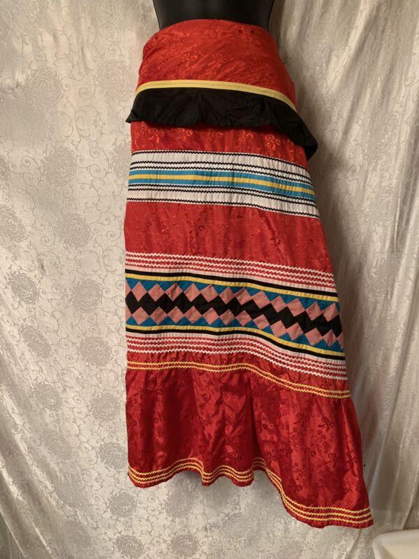 Vintage Miccosukee Seminole Handmade Patchwork Skirt Unfinished
