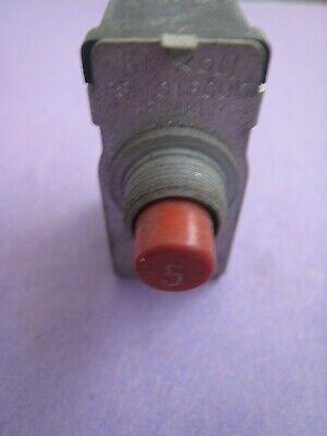 Klixon Aircraft Circuit Breaker Psm 5 Amp