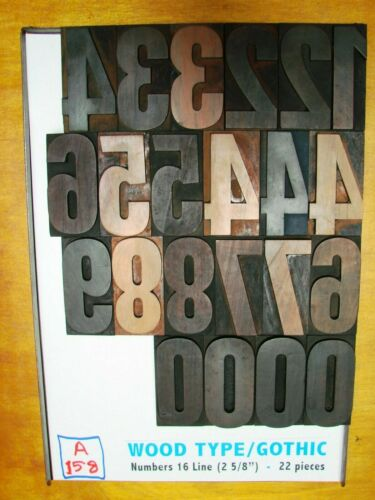 Wood Type/Gothic - Numbers