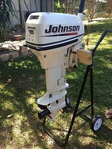 JOHNSON 15hp MOTOR SHORT SHAFT Stafford Heights Brisbane North West Preview