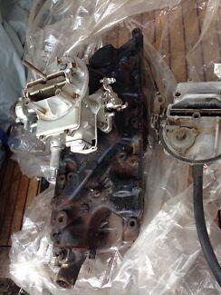 Rebuilt Double barrel carburetor and steel manifold Perth CBD Perth City Preview
