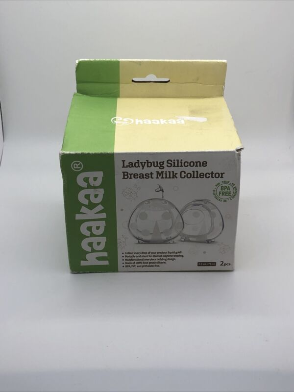 Haakaa Ladybug Silicone Breast Milk Collector 2 Pieces 2.5 oz 75 ml New OPEN BOX
