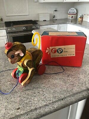 Fisher Price #798 Chatter Monk-MIB