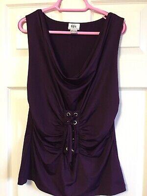 Bon Prix Deep Purple Stretch Sleeveless Sexy Gothic Steampunk Corset Top Size M