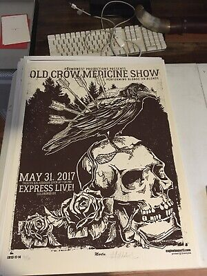 Old Crow Medicine Show Limited Edition Gig poster Ohio  Martin EngineHouse13 Crow Limited Edition