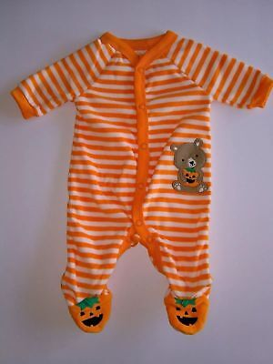 Just One By Carter's (NB) Halloween Pumpkin and Bear Sleep and Play (NB) - Carter's Halloween Sleep And Play