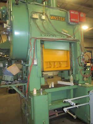 Minster P2-75-36 Straight Side Stamping Press W2.5 Stroke 2 Slide Adjust