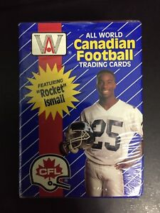 All World Canadian Football Trading Cards Unopened