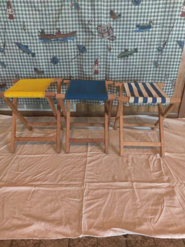 VTG Trace Industries camp stools. Fair condition. Set of 3