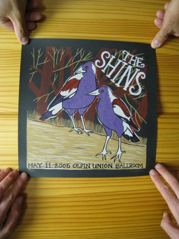 The Shins Poster Silk Screen Signed and Numbered Leia Belle May 2005