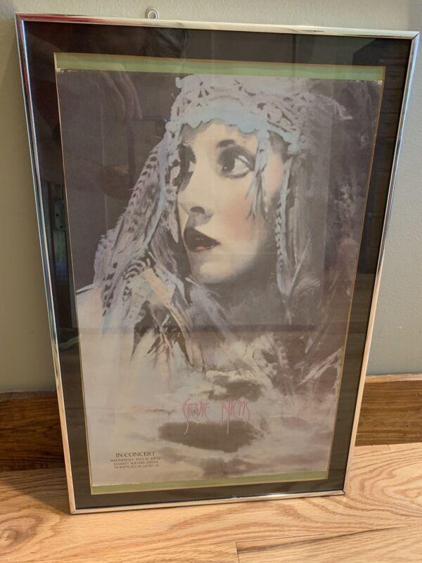 Original STEVIE NICKS  - 1983 Vintage Concert Poster Framed