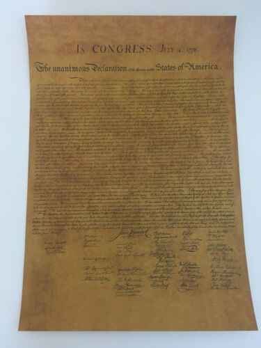 Declaration of Independence America Poster Replica US History