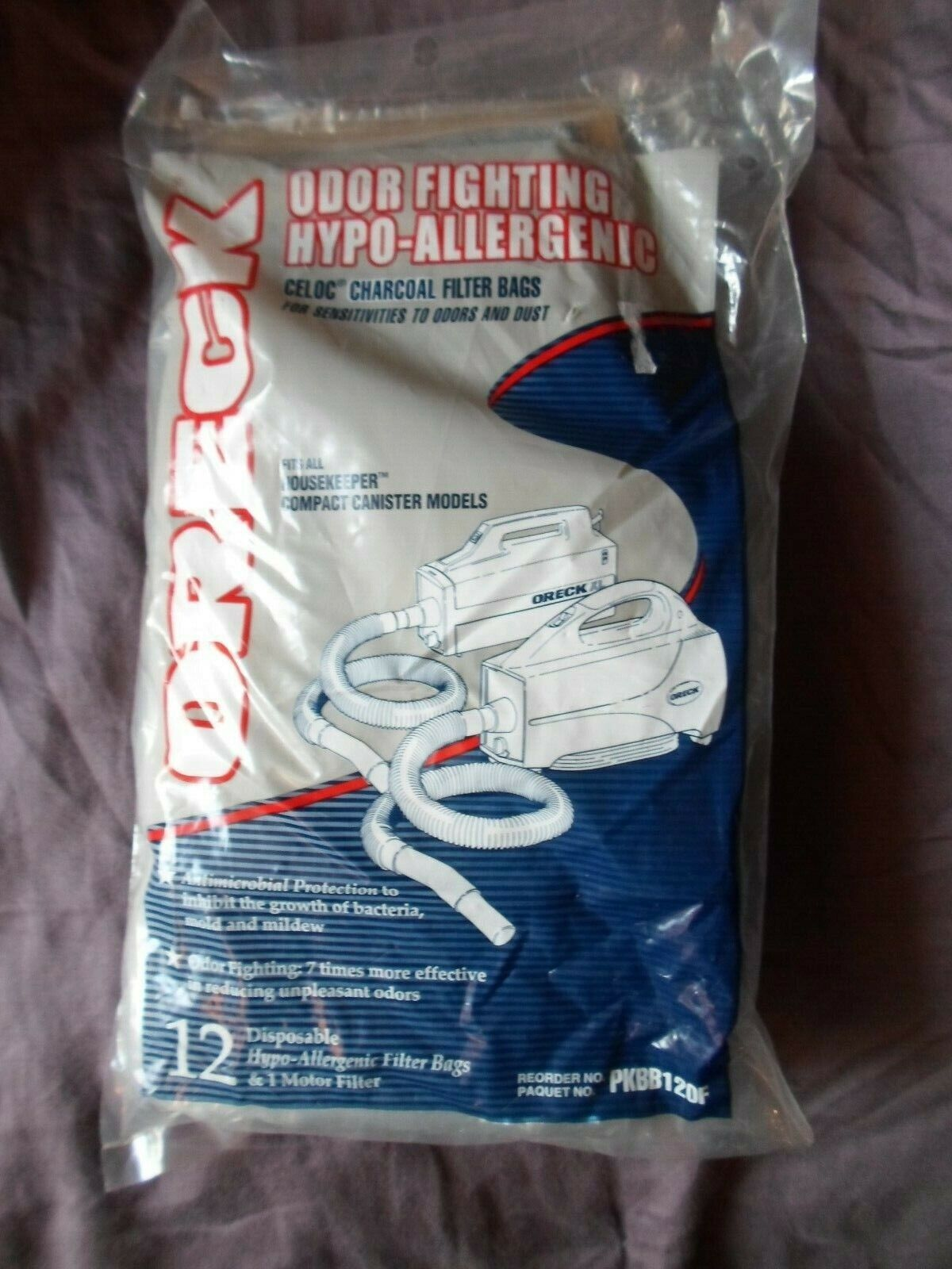 Genuine Oreck Buster B Odor Fighting Charcoal Filtrete Paper