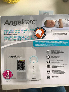 Angelcare AC701 Touch Screen Sound and Movement Baby Monitor 2 Sensor