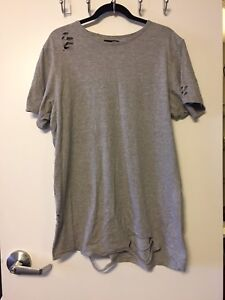 Men's large ripped style shirt