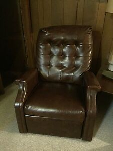 Faux Leather Reclining Arm Chair