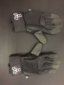 Mint condition triple 8 long boarding gloves