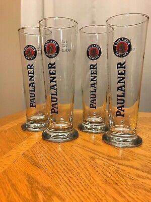 Set of 4 Paulaner Munchen  0.4L Rastal Glasses Germany-German Beer Glasses