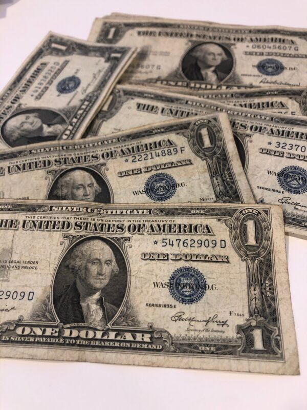 ** 1935 One Dollar Star Note Silver Certificate - Buying 1 Clean Star Bill **