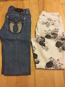 4 Jeans size 3/4 (american eagle, silver)
