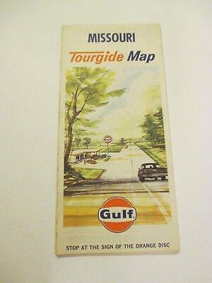 Vintage 1964 GULF Missouri Oil Gas Service Station Road Map