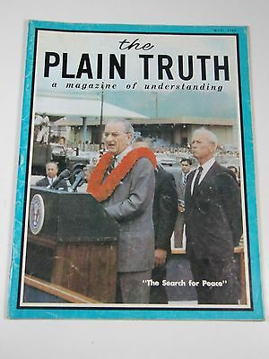 The Plain Truth  A Magazine Of Understanding  May 1968  The Search For People