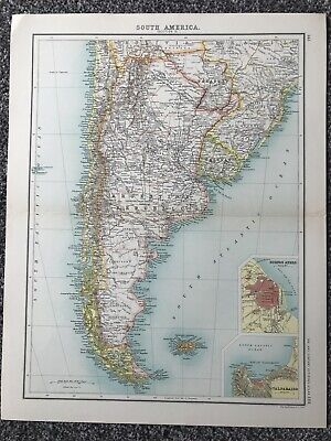 "Retro ""South America - Section 3"" Map (35 X 45cm)"