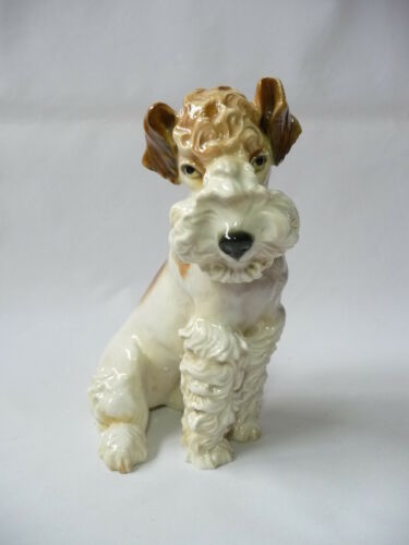Rare Ens Germany porcelain Fox terrier dog