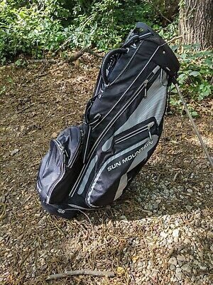 Sun Mountain Three 5 Stand Carry Golf Bag - Black / Grey
