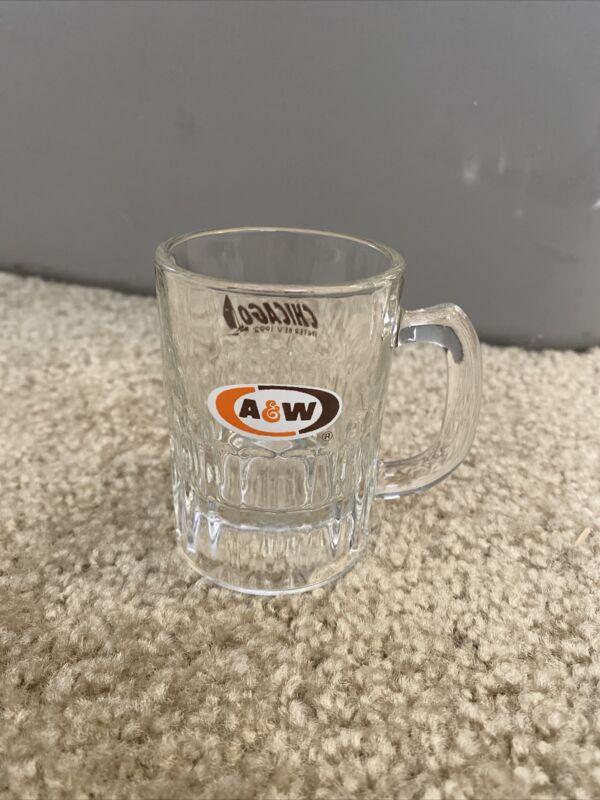 A&W Root Beer Glass Mini Mug Chicago 1992 Souvenir