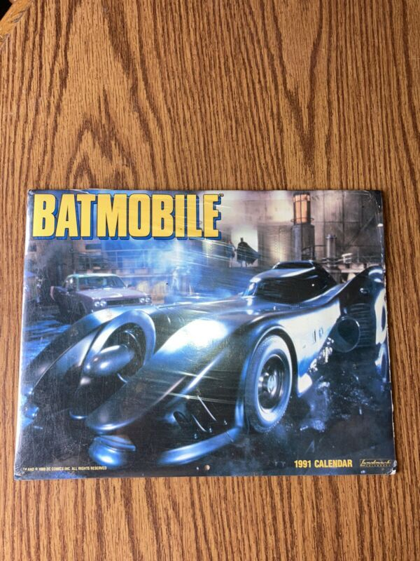 Vintage 1991 Batmobile Batman Movie Wall Calendar NEW SEALED Rare Collectors