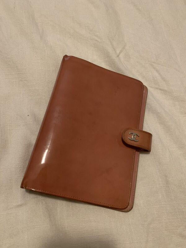 Vintage Chanel Pink Patent Agenda Notebook Planner Day Planner SHW