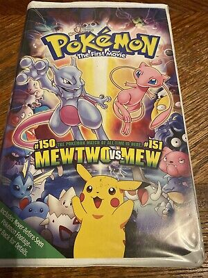 Pokemon The First Movie Vhs Never Before Seen Footage Video Mewtwo Rare