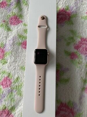 Apple Watch Series 2 38mm Rose Gold Aluminium Case Pink Sand Sport Band -...