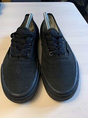Men's Black Vans Size 8