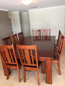 Free delivery!Solid Wood 11-piece Dining set and matching cabinet Secret Harbour Rockingham Area Preview