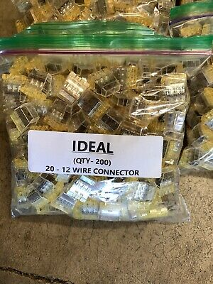 100pcs Assorted Ideal Push In Wire Connectors 23 Port 20-12 Awg Per Bag