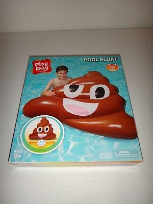 Play Day Brown Chocolate Swimming Pool FLOAT 4 FT Wide + Repair Patch  Ages 9+ Cocoa Pink 4 Piece