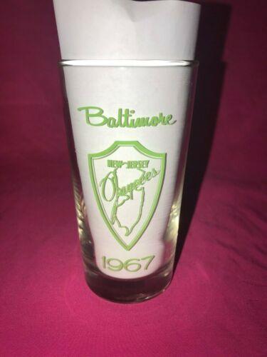 VIntage Baltimore New Jersey Jaycees 1967 Enjoy Fresca Glass Nice Condition