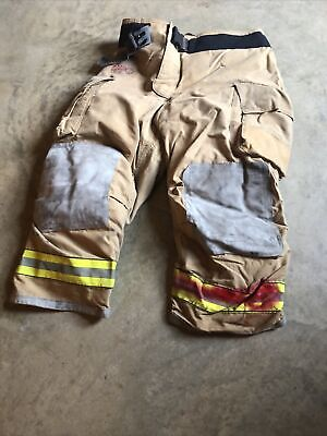 44x28 Globe Tan Firefighter Pants Turnout Bunker Fire Gear