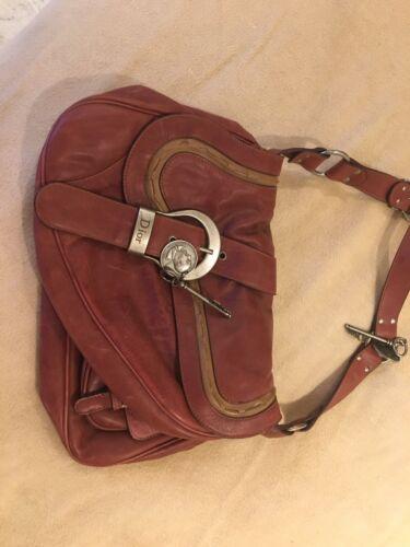 Sac a main christian dior gaucho en cuir noir black leather hand bag purse 1800€