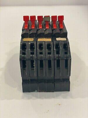 Lot Of 3 Zinsco Sylvania Challenger Breakers 2-pole 20 Amps
