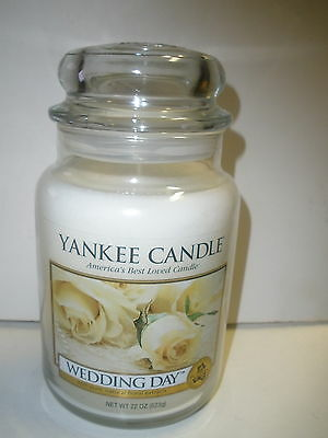 NEW Yankee Candle Wedding Day 22 oz white