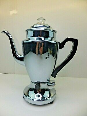Vintage Mid Century Renfrew Canadian Beauty 4 Cup Chrome Electric Percolator